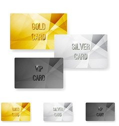 Club Member Metal Modern Cards Template Vector Image  Club Membership Card Template