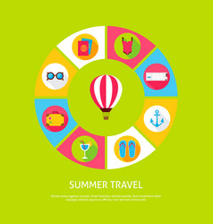 concept summer travel vector image vector image