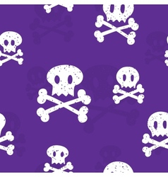 Crossbones pattern purple vector image vector image