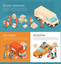 delivery moving design concept vector image vector image