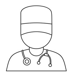 doctor icon outline style vector image vector image