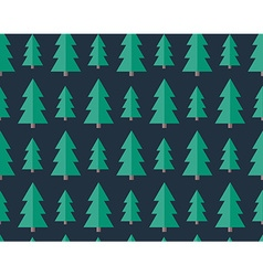 Flat seamless pattern with cristmas trees vector image vector image
