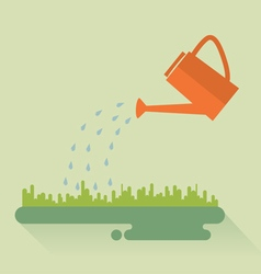 Flat watering can vector