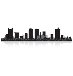 Fort Worth USA city skyline silhouette vector image
