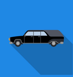 Hearse icon in flat style isolated on white vector