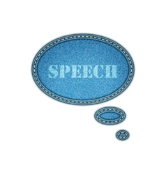 Jeans texture background speech bubble stickers vector