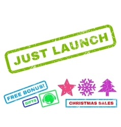 Just Launch Rubber Stamp vector image vector image