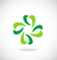 leaf green ecology logo vector image vector image