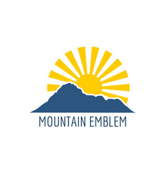 mountain emblem design vector image vector image