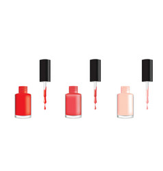 nail polish in three different colors vector image