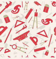 Red architectural seamless pattern vector