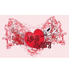 vintage valentine t-shirt design vector image
