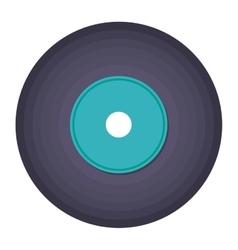 vinyl music isolated icon design vector image
