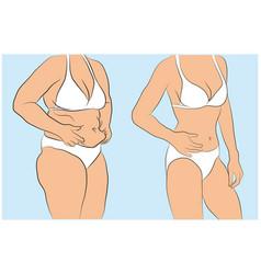 woman body vector image