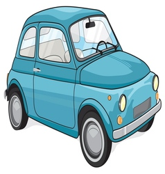 Blue vintage car vector
