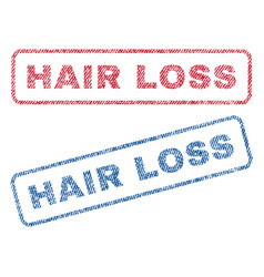 Hair loss textile stamps vector