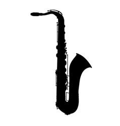 Saxophone jazz musical instrument silhouette vector