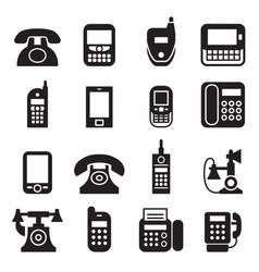Communication call phone vintage retro telephone vector