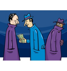 Crime or corruption cartoon vector