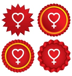 Female sign icon woman sex button vector