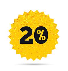 20 percent discount sign icon sale symbol vector image vector image