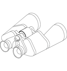 Binoculars line vector