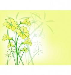 Yellow floral pattern vector