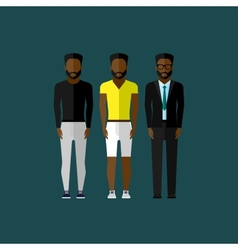 Men fashion style in flat style vector