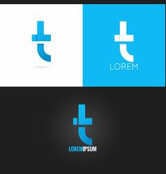 letter T logo design icon set background vector image