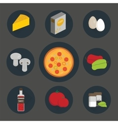 Icons set of process cooking pizza vector image