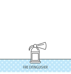 Fire extinguisher icon flame protection sign vector