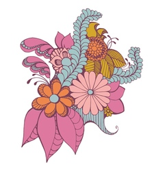 Zentangle Paisley Design vector image