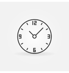 Clock round icon vector image