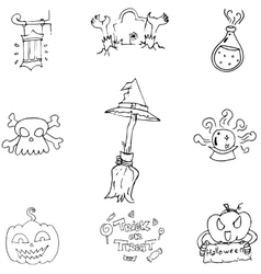 Doodle halloween holiday element vector