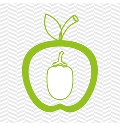 Apple fruit with beet isolated icon design vector