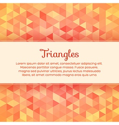 Abstract colorful background with triangles vector image vector image