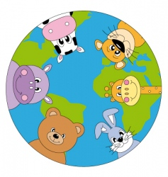 Animals world vector