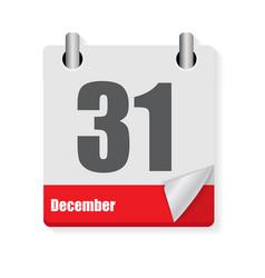 Calendar flat daily icon vector