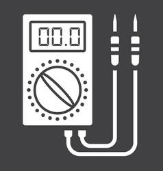 Digital multimeter glyph icon build and repair vector