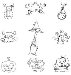 Doodle halloween holiday element vector