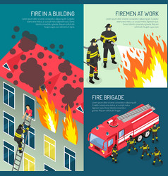 fire department design concept set vector image