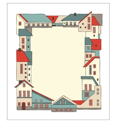 frame made of houses vector image vector image
