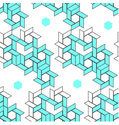 geometric pattern line art vector image vector image