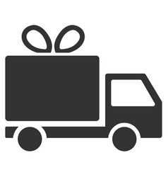 gift delivery flat icon vector image vector image