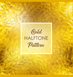 Gold halftone pattern background vector