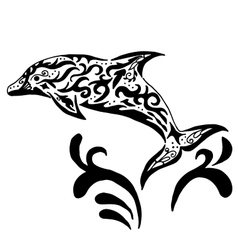 High quality original Dolphin tatoo vector image vector image