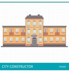 Hotel flat vector