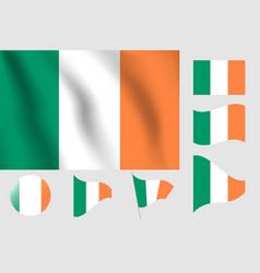 Ireland flag realistic flag national symbol design vector