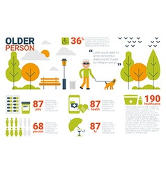 Older person concept vector
