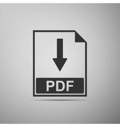 Pdf flat icon on grey background adobe vector